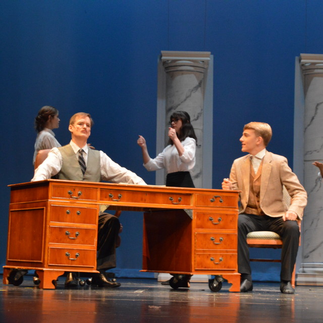 From left to right: George Banks (Erich Izdepski) and Northbrook (James Brady)  Photo by Hayley Olivenbaum