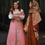 From Left to Right: Snow White (Zoe Rocchio) and the Crone (Gabrielle Schaubach). Photo by Larry McClemons.
