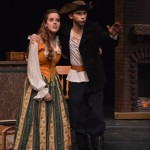 Billy Bones (Zach Longsworth) shares his pirate adventures with Jemma Hawkins (Maddy Zobrist).