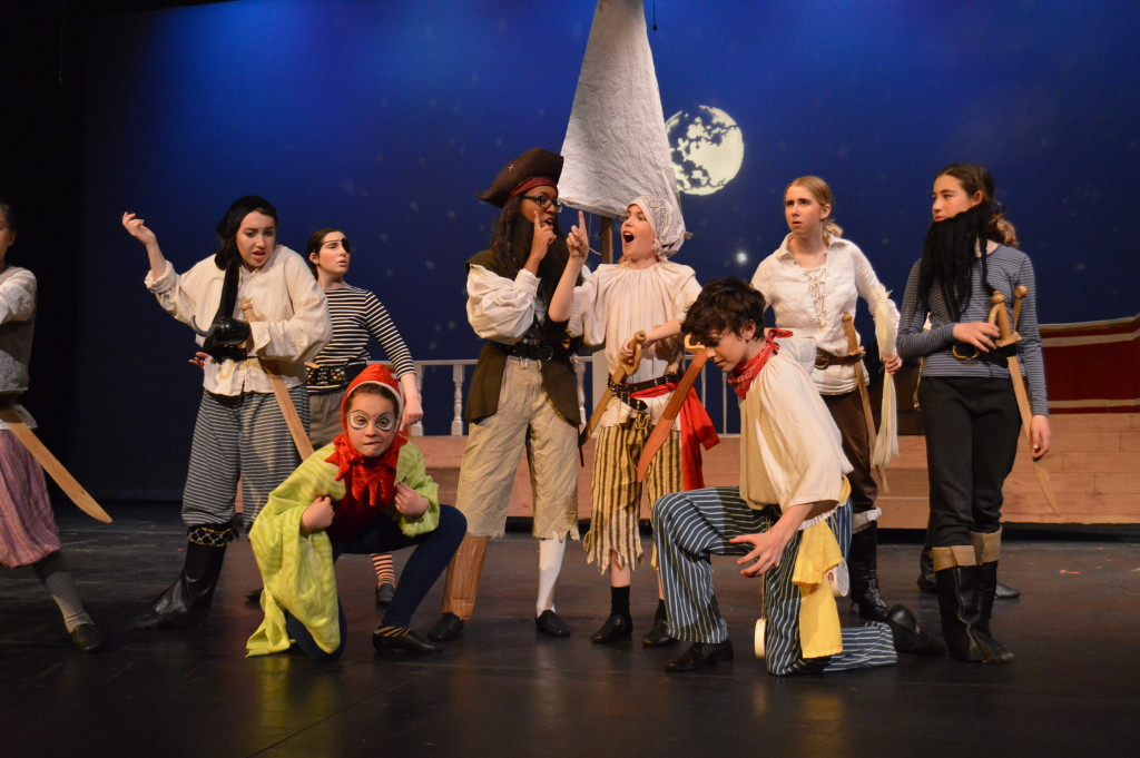 Long John Silver (Louisa Martial) and the gang begin their search for the treasure map.
