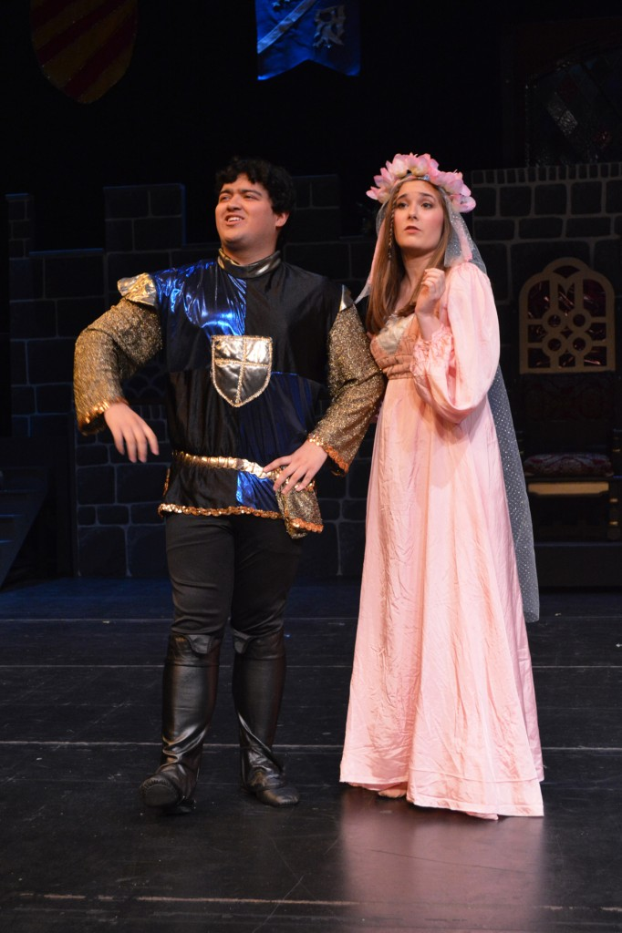 "Sir Harry and Lady Larkin, played by David Lopez and Hannah Murphy in Encore Stage & Studio's ""Once Upon A Mattress"" (2014)"